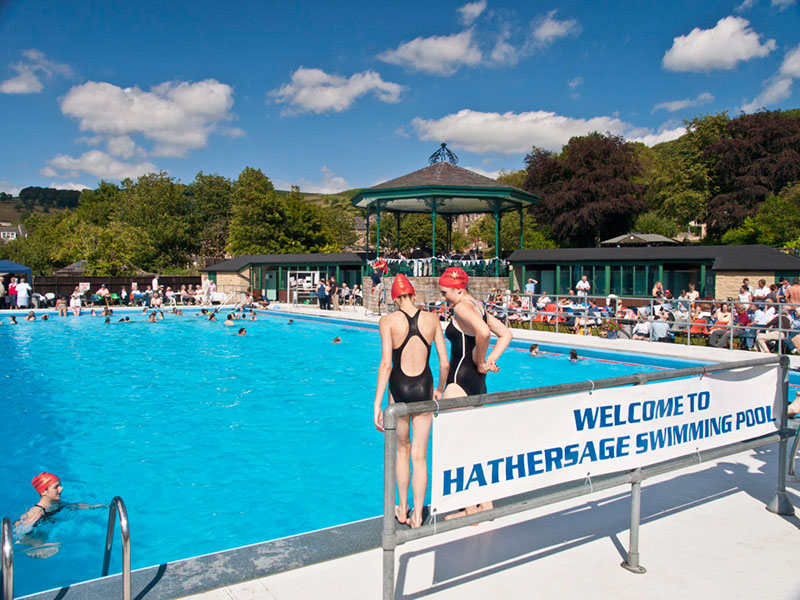 Hathersage swimming pool 75th anniversary photos for Swimming pool show uk