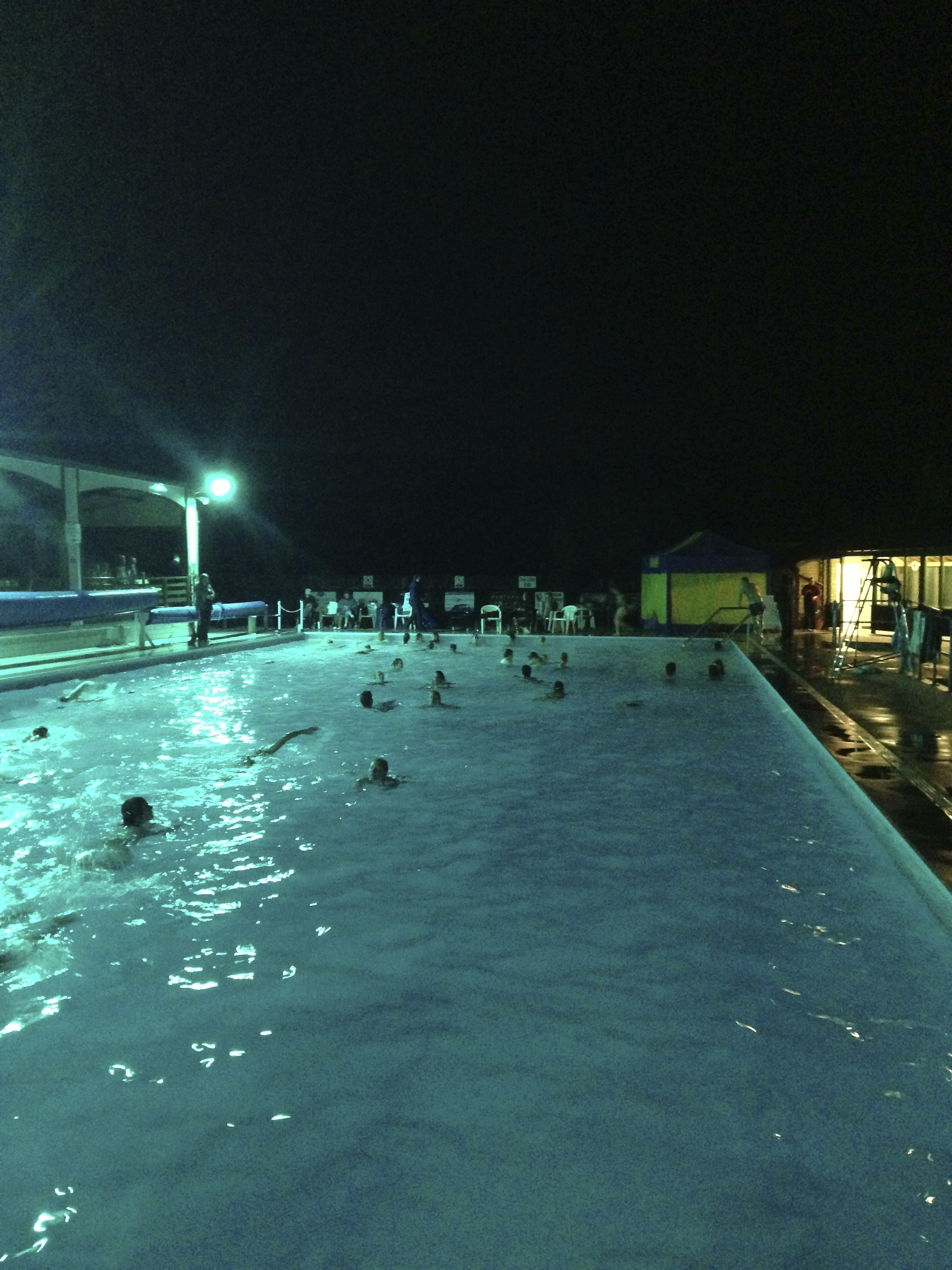 Pool Water At Night A Fun Family Evening Out Enjoy The Local