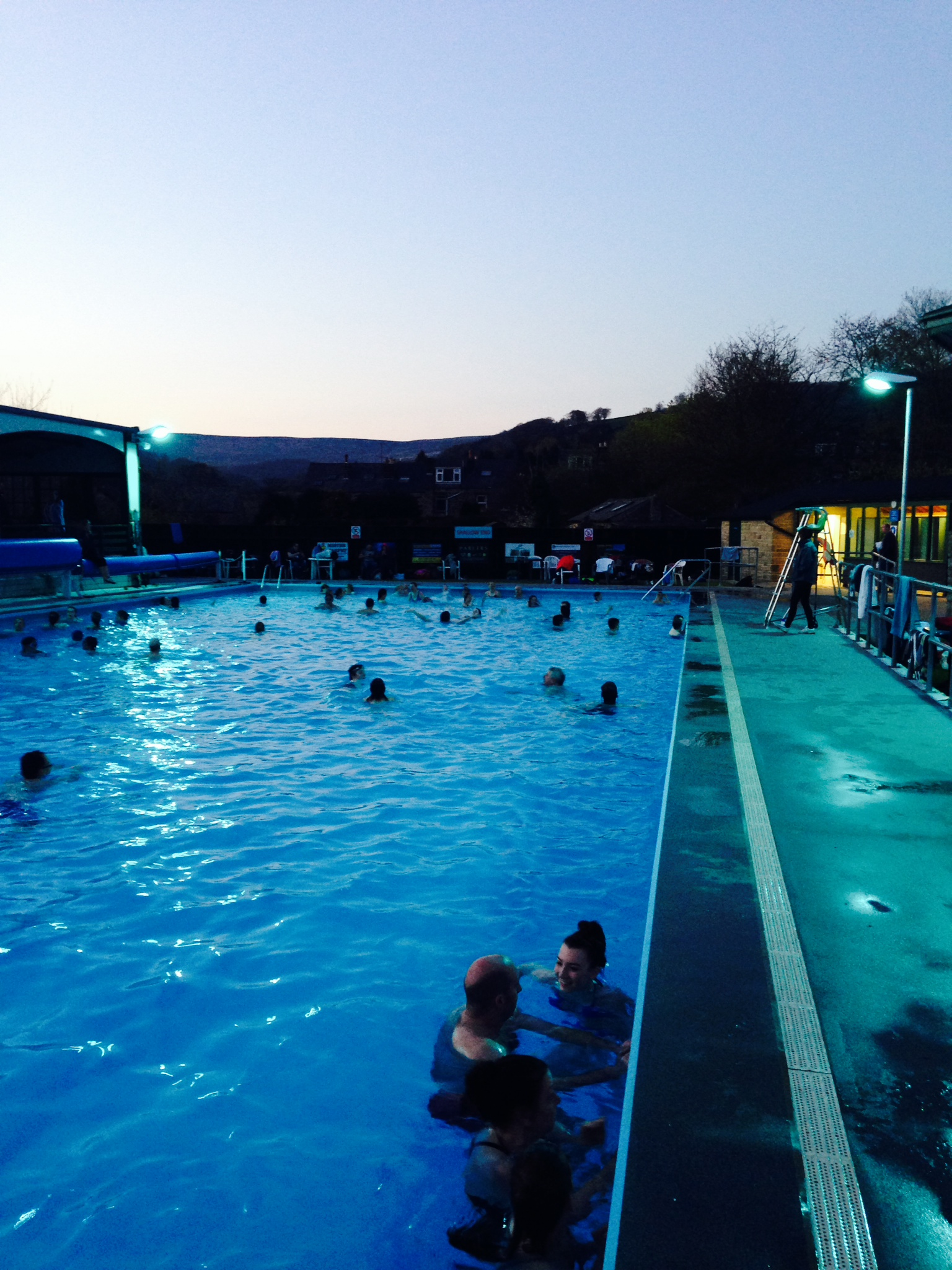 Hathersage Swimming Pool April Night Swim Organised By King Georges Field Hathersage Swimming Pool