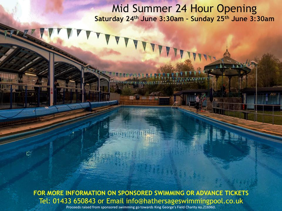 Hathersage swimming pool 5th annual 24 hour mid summer swim hathersage swimming pool Wellington swimming pool opening times