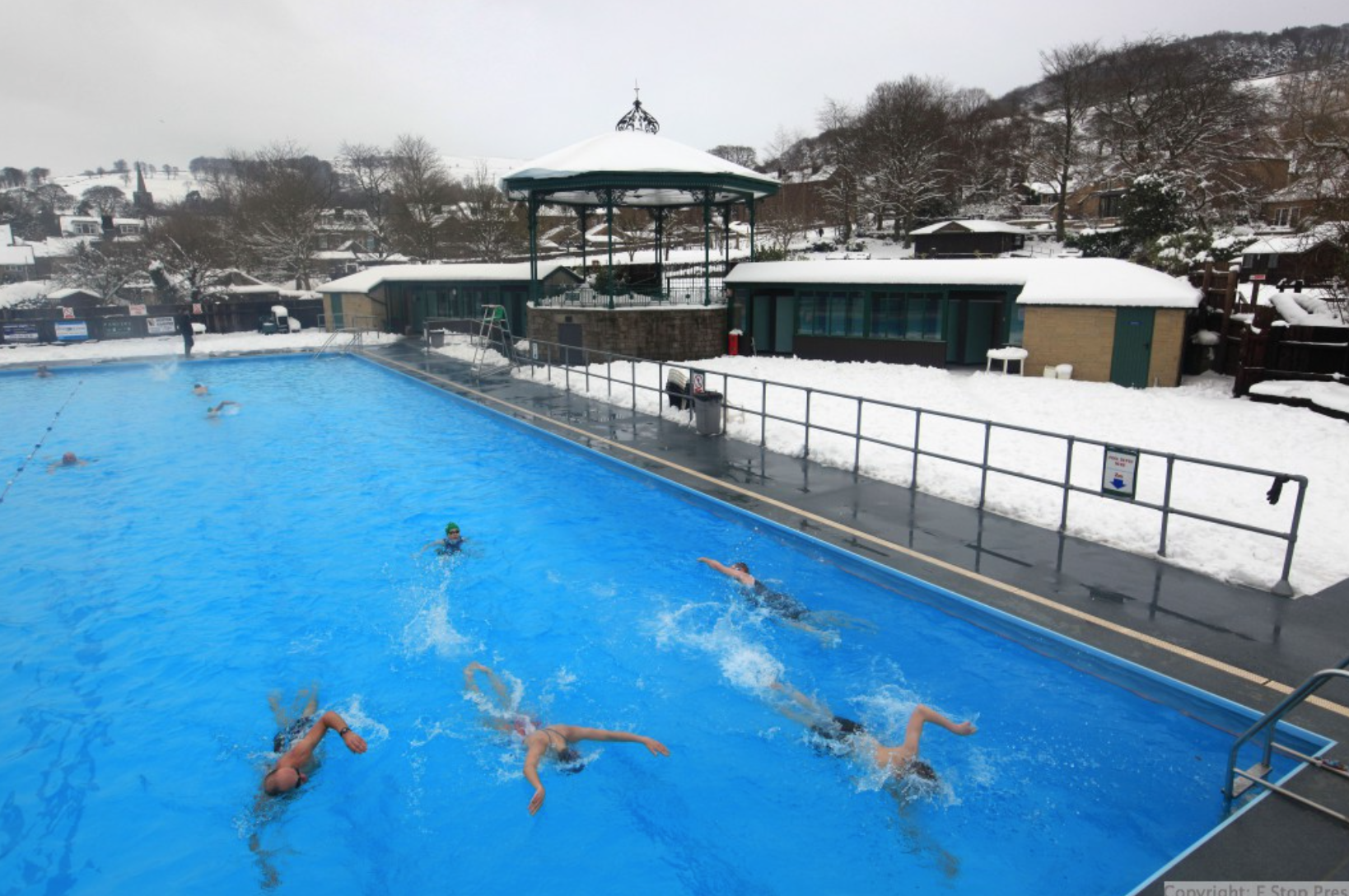 Hathersage Swimming Pool New Years Day Swim Hathersage Swimming Pool